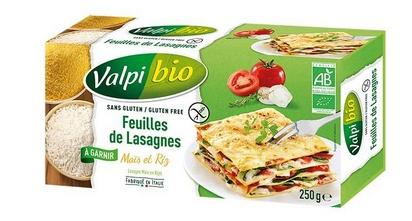 Valpi bio feuilles de lasagne maïs riz 250g