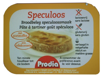 Prodia pâte à tartiner spéculoos 25g x 100 édulc
