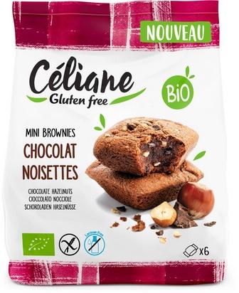 Céliane mini brownies choc. noisettes bio 6p 170g