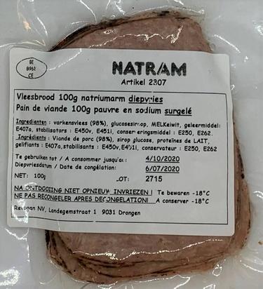 Natram pain de viande ps 100gx10 surg