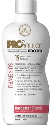 PROSource Nocarb myrtille 887ml