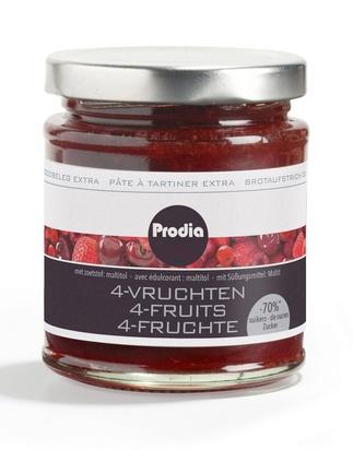 Prodia pâte à tartiner extra 215g 4-fruits maltito