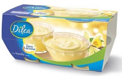 Dilea zero lactose dessert vanille 125g x 4