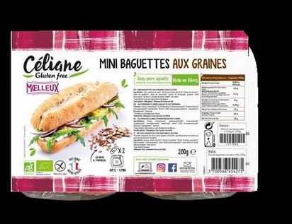 Céliane mini baguettes aux graines bio 2pcs 200g