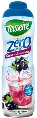 Teisseire zéro 0% de sucre cassis 60cl