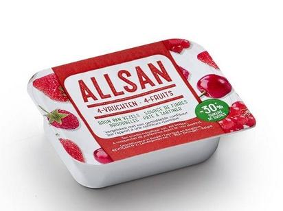 Allsan pâte à tartiner 4-fruits 25g x 100