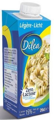 Dilea zero lactose crème légère 20cl