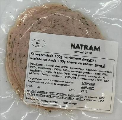 Natram roulade de dinde ps/maigre 100gx10 surg