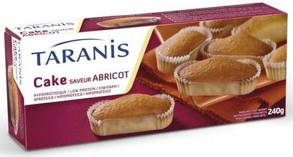 Taranis cake saveur abricot 6port 240g