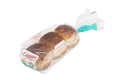 Carezzo pain aux raisins 66g x 6 surgelé