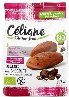 Céliane madeleines pépites chocolat bio 6pcs 180g