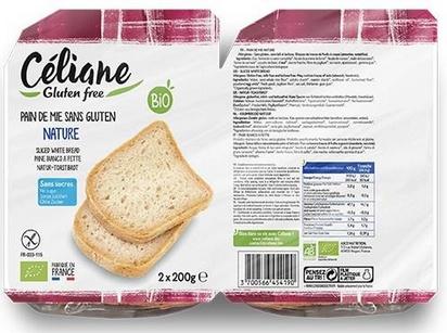 Céliane pain de mie nature bio 400g