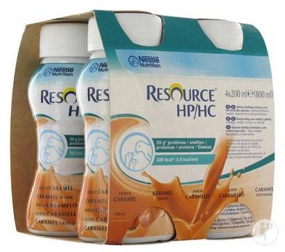 Resource HP HC caramel 200ml x 24